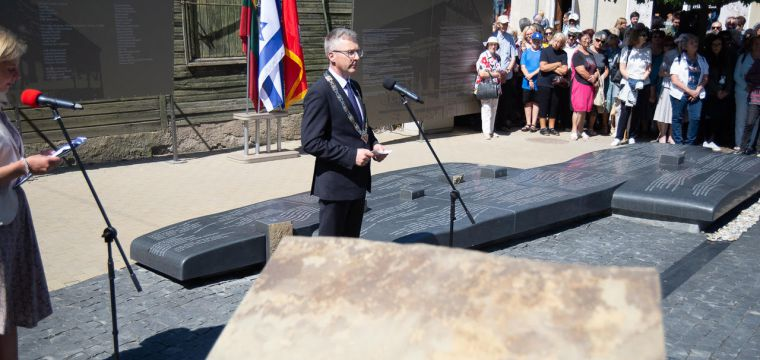 Unique Monument to Jewish Community Revealed in Lithuania .
