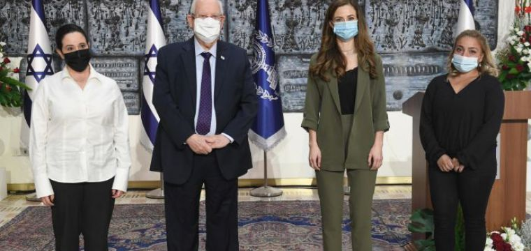 .Marking the International Day for the Elimination of Violence against Women, President Rivlin hosted an award ceremony