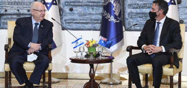 .President Rivlin received diplomatic credentials from the new ambassadors of Australia, Guatemala, Malta, Cyprus and Turkmenistan to Israel