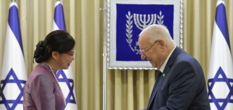 .President Rivlin received diplomatic credentials from the new ambassadors of Gambia, Thailand, El Salvador and Benin