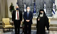.President Rivlin held the traditional new year's reception for heads of Christian denominations in Israel, this year online