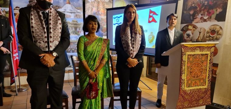National Day 2021 celebration and book launch hosted by the Ambassador of Nepal