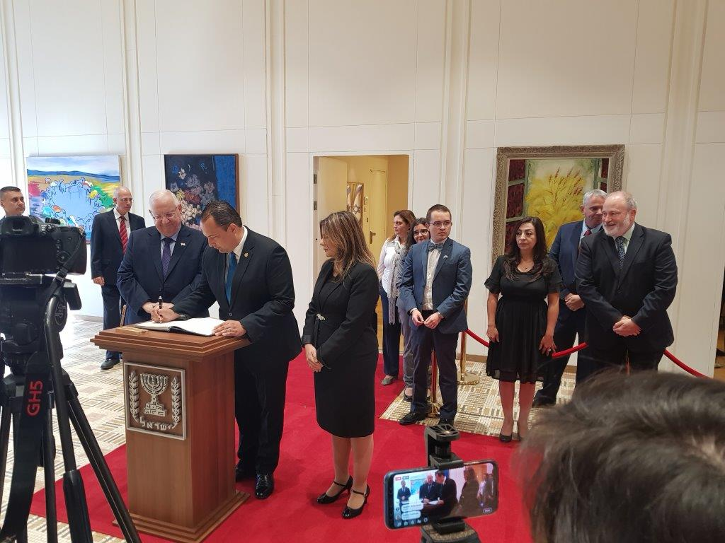 New Guatemalan Ambassador Bucaro Celebrates Jerusalem Move
