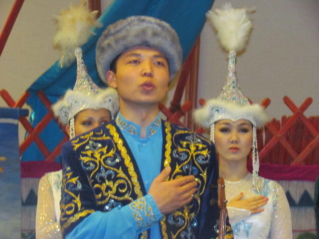 Display's of traditional Kazakhi dress